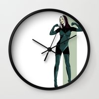 rogue Wall Clocks featuring Rogue by Andrew Formosa