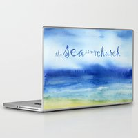 reassurance Laptop & iPad Skins featuring The Sea Is My Church (text) by Jacqueline Maldonado