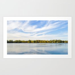 Clouds Above The Lake Art Print