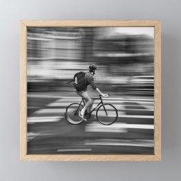 Biking to nowhere Framed Mini Art Print