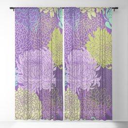 Chrysanthemum blossom Sheer Curtain