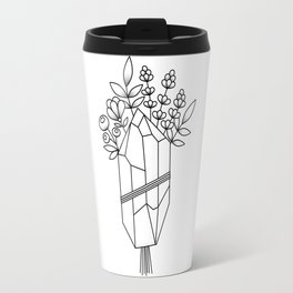 Crystal Flower Bouquet Travel Mug