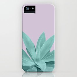 Lavender Green Agave Vibes #1 #tropical #decor #art #society6 iPhone Case
