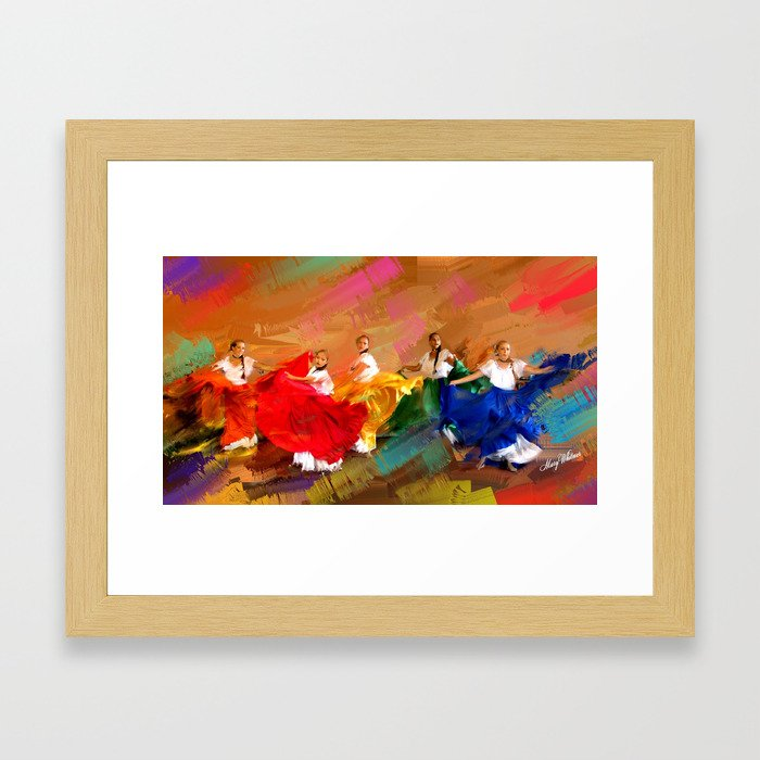 Spanish Dancers Framed Art Print