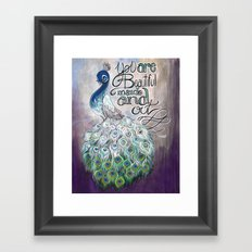 You are beautiful inside and out Framed Art Print