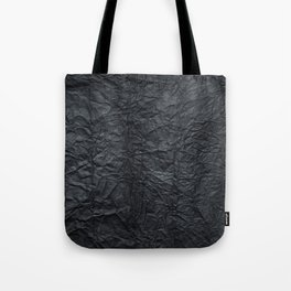 Abstract modern black gray creased paper texture Tote Bag