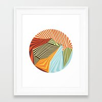 mandala Framed Art Prints featuring Yaipei by Anai Greog