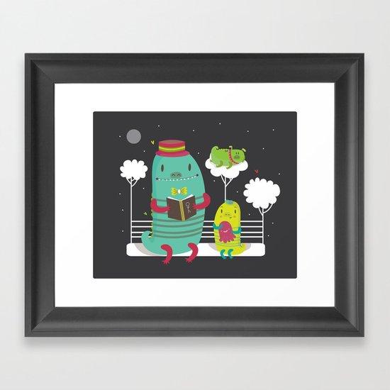 Dino family Framed Art Print