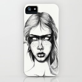 Nocturnal Warrior Sketch iPhone Case