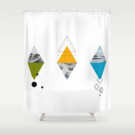 Ocean Mountains Clouds Shower Curtain