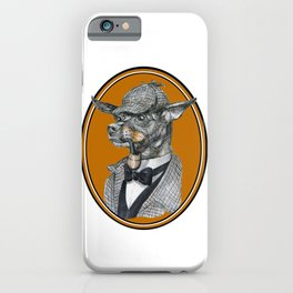 Min-Pin Holmes iPhone Case