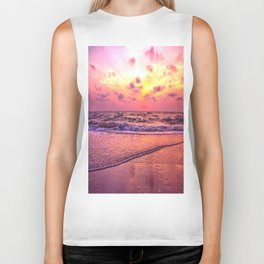 A View For the Soul Sunset Biker Tank