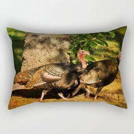 Turkey Trot Rectangular Pillow