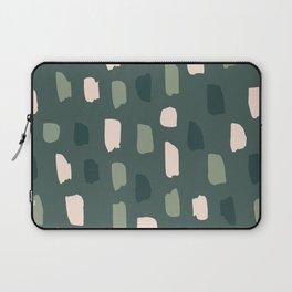 Paintbrush Green Rose Laptop Sleeve