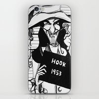 captain hook iPhone & iPod Skins featuring Captain Hook by Gabrielle Wall