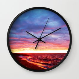 Sunset Saturation Wall Clock