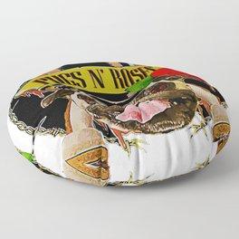Pugs N Roses Crossbones Floor Pillow