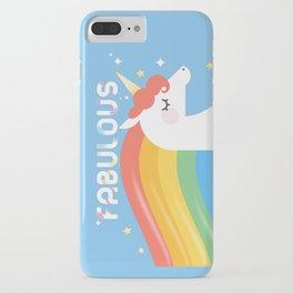 Fabulous Sparkling Rainbow Unicorn iPhone Case
