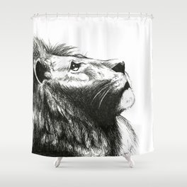 African cat Shower Curtain