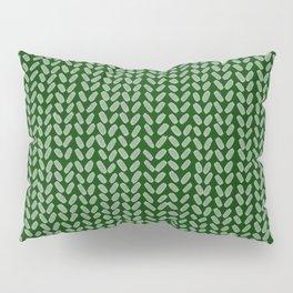 Forest Green Knit Pillow Sham