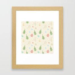 Simple christmas vector pattern Framed Art Print