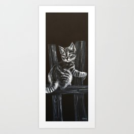 CAT1, PIANO COMPOSITION, kitty, small cat Art Print