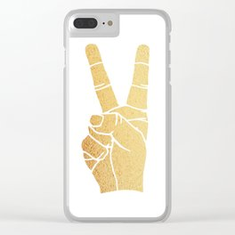 PEACE OUT Clear iPhone Case