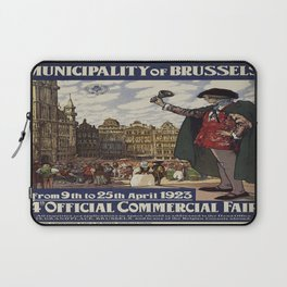 Vintage poster - Brussels Laptop Sleeve