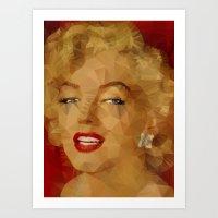monroe Art Prints featuring Monroe by Ancello
