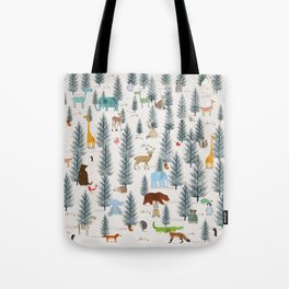 little nature woodland Tote Bag