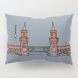 Oberbaum Bridge in Berlin Pillow Sham