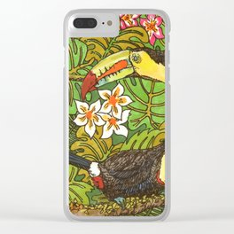 Tucans Clear iPhone Case