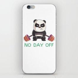 No Day Off Panda iPhone Skin