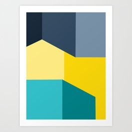 Almost Perfect- Simple Shapes Art Print