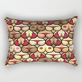 Funny and Sexy Tits and Bums Mix Seamless Pattern Design Rectangular Pillow
