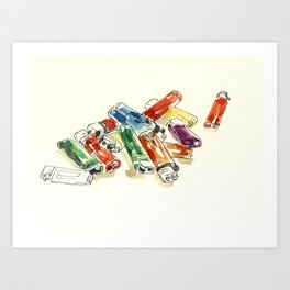 lighters Art Print