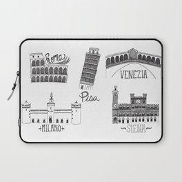 Italian Landmarks Laptop Sleeve