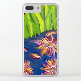 Flowers Float by Ladybug Grass Clear iPhone Case
