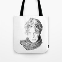 lucas david Tote Bags featuring David by Rabassa