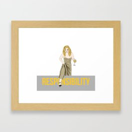 Jennifer Lawrence stepping over responsibilities Oscars 2018 Framed Art Print