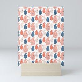 Hand drawn paisley motif illustration. Mini Art Print