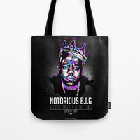 notorious Tote Bags featuring Notorious Beef by Street Vandals