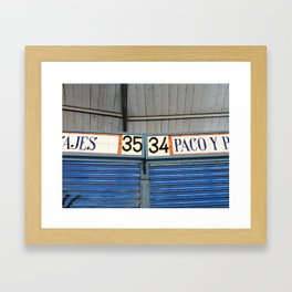 34-35 Framed Art Print