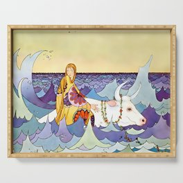 """""""Europa and the Bull"""" by Virginia Sterrett Serving Tray"""