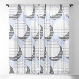 Simple Circle Pattern Sheer Curtain