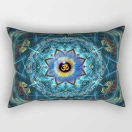 """Om Namah Shivaya"" Mantra- The True Identity- Your self Rectangular Pillow"
