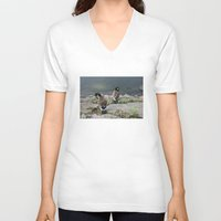 ducks V-neck T-shirts featuring NYC / Ducks by johntrif