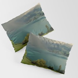 arising storm over lake lucerne Pillow Sham