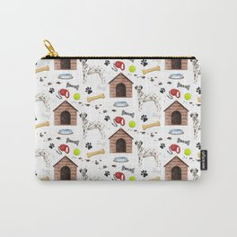Dalmatian Half Drop Repeat Pattern Carry-All Pouch