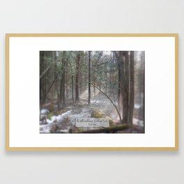 Still Woods Framed Art Print